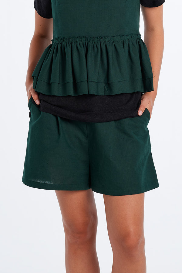 EVERYDAY SHORTS | FOREST - NYNE - NZ Made Women's Clothing