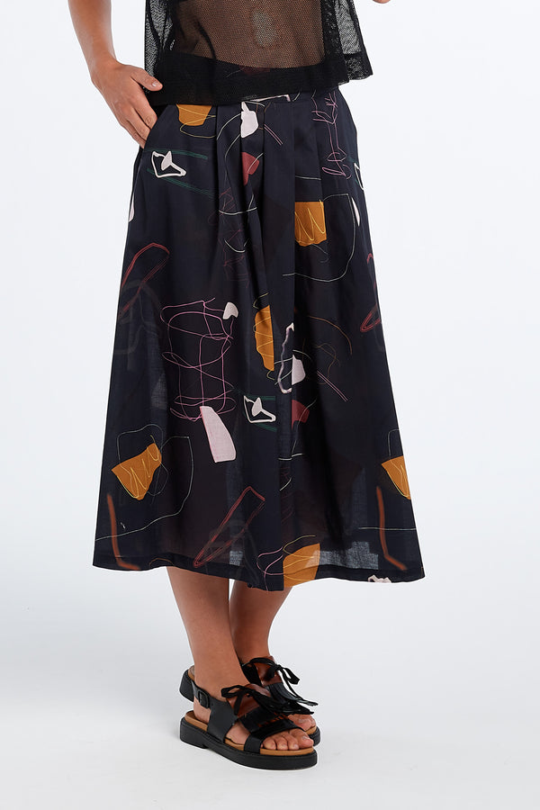INTUITION SKIRT | INK PRINT - NYNE - NZ Made Women's Clothing