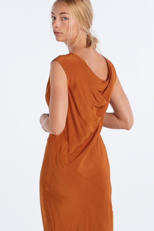 PUBLICATION DRESS | RUST - NYNE - NZ Made Women's Clothing