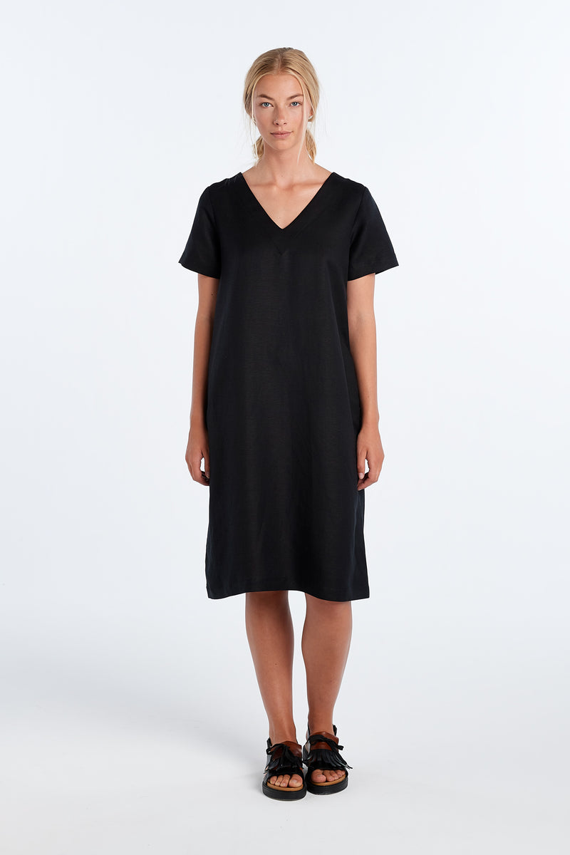 SURFACE DRESS | BLACK - NYNE - NZ Made Women's Clothing
