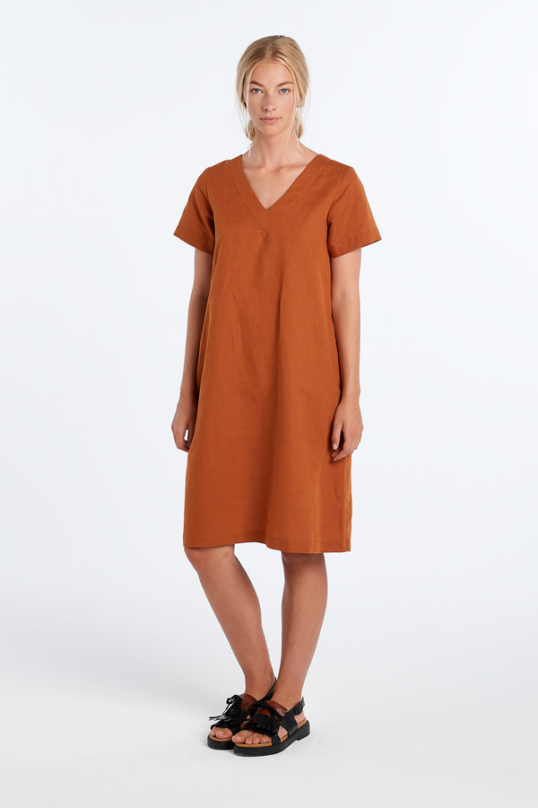 SURFACE DRESS | RUST - NYNE - NZ Made Women's Clothing