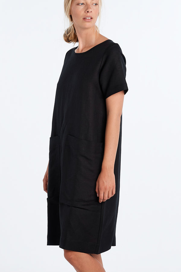 FREDDIE DRESS  | BLACK - NYNE - NZ Made Women's Clothing