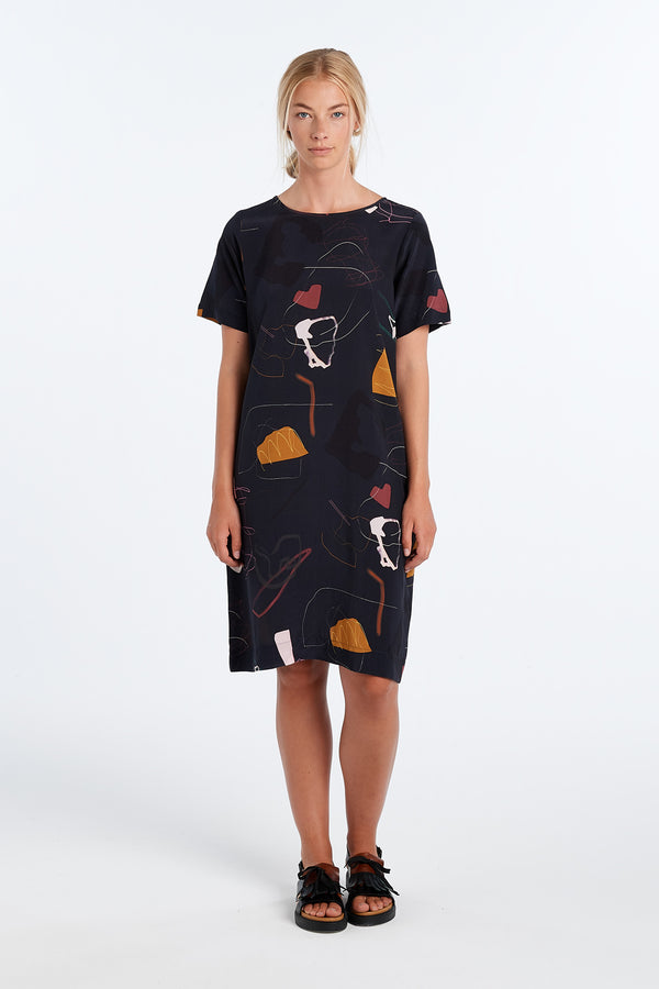 CHRIS DRESS | INK PRINT - NYNE - NZ Made Women's Clothing