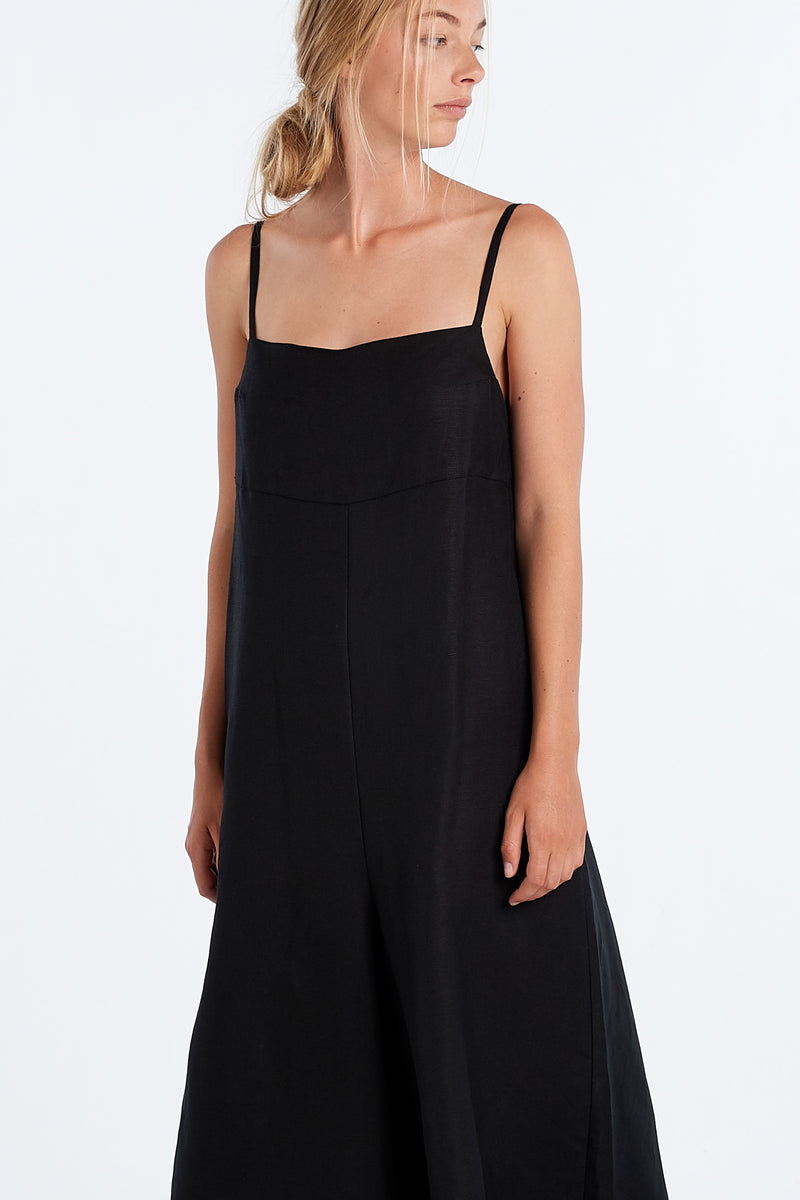 RACHEL ROMPER | BLACK - NYNE - NZ Made Women's Clothing