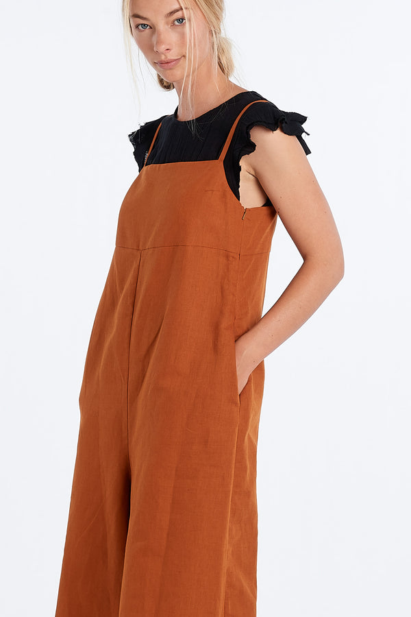 RACHEL ROMPER | RUST - NYNE - NZ Made Women's Clothing