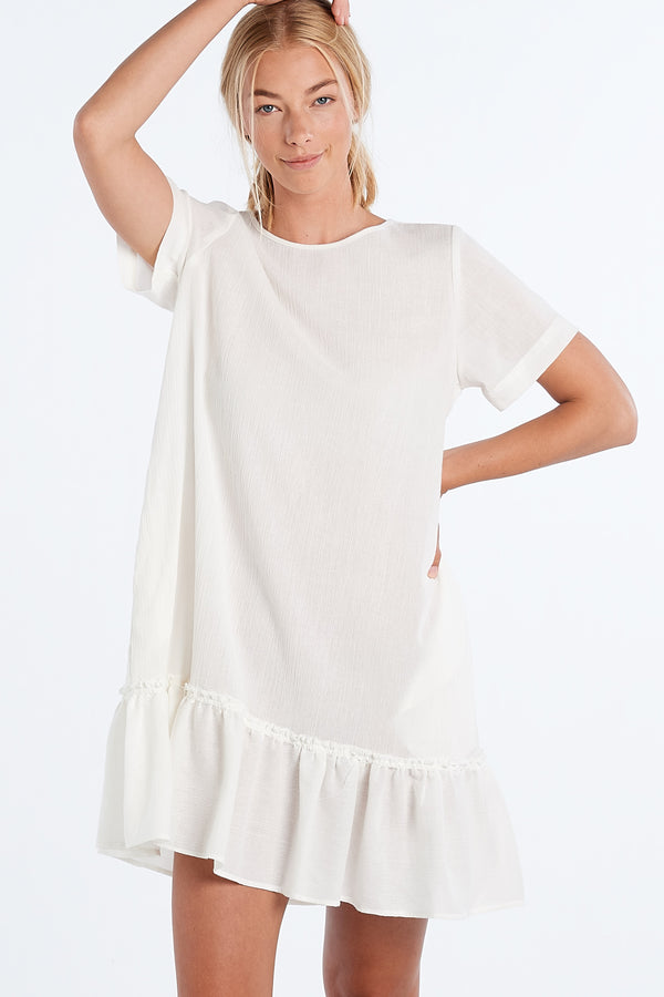 PAINTING DRESS | IVORY GAUZE - NYNE - NZ Made Women's Clothing