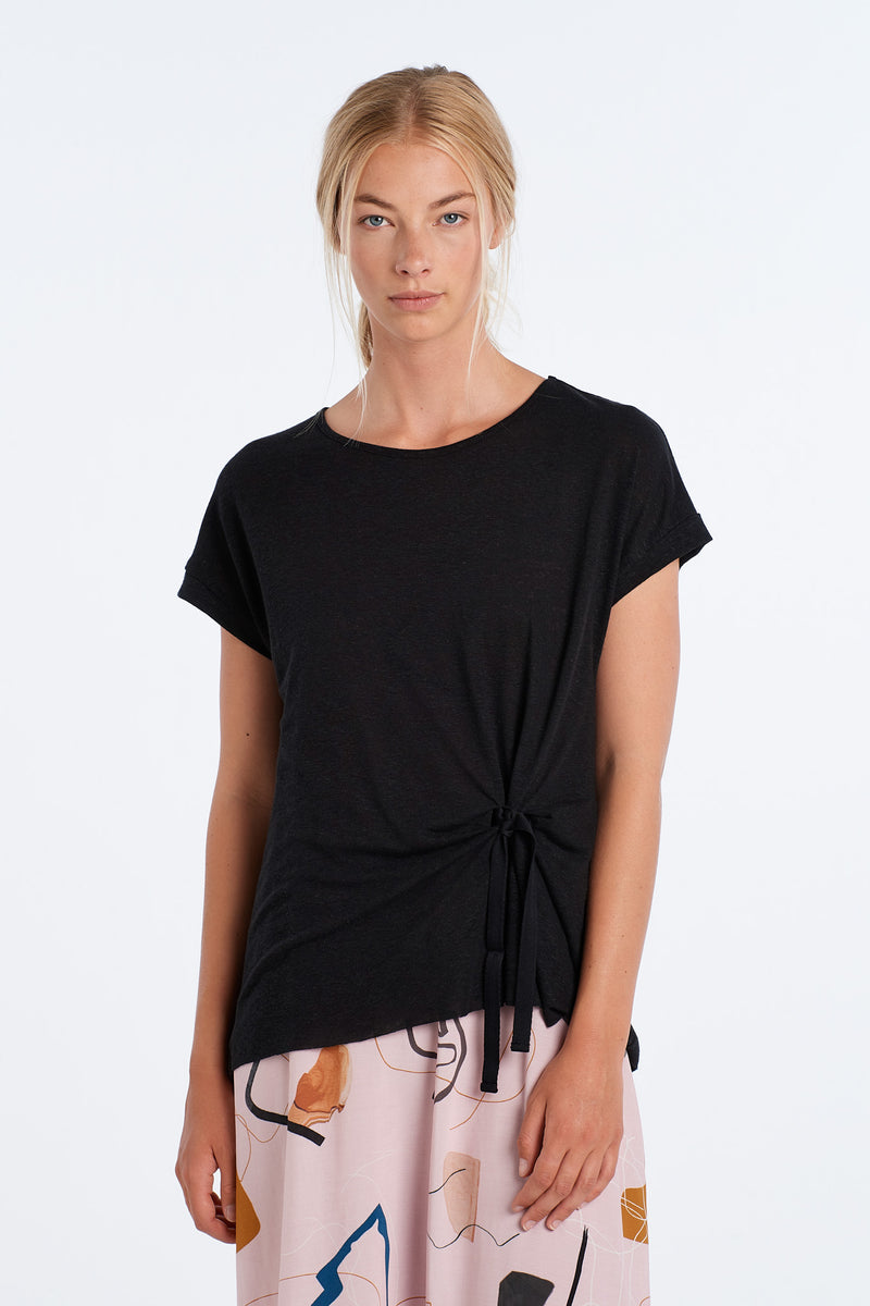 DIALOGUE TOP | BLACK - NYNE - NZ Made Women's Clothing