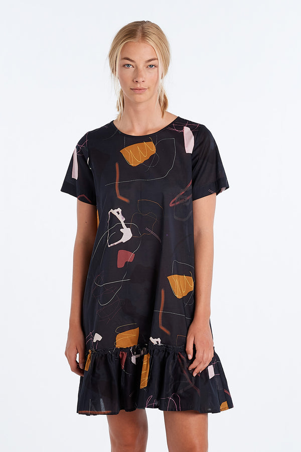PAINTING DRESS | INK PRINT - NYNE - NZ Made Women's Clothing
