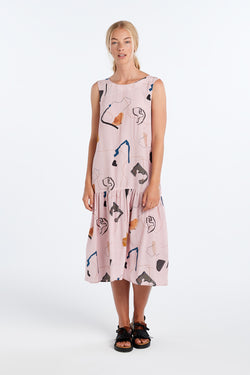 EXPLORE DRESS | BLUSH PRINT - NYNE - NZ Made Women's Clothing