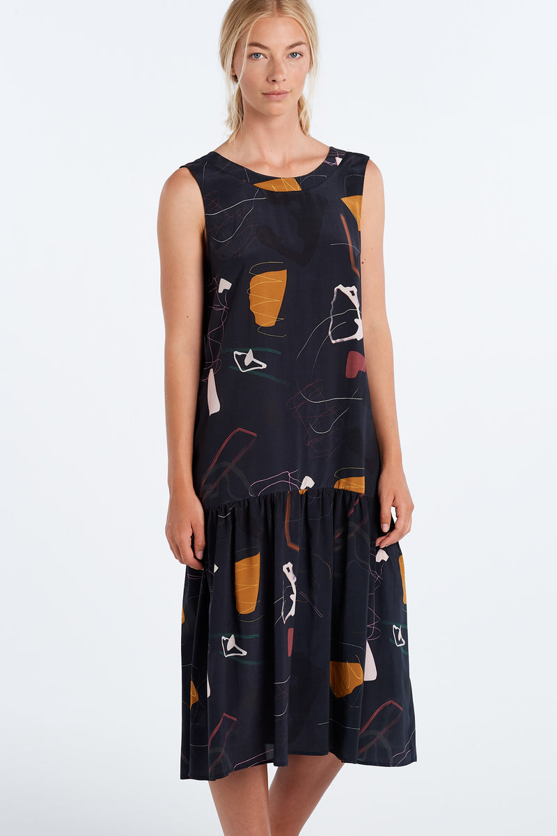 EXPLORE DRESS | INK PRINT - NYNE - NZ Made Women's Clothing