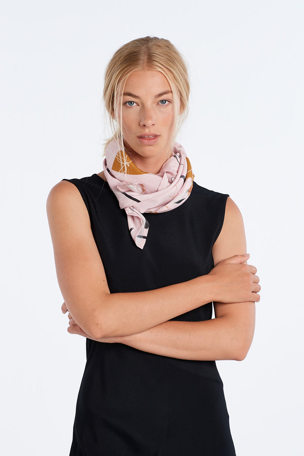 JOURNAL SCARF  | BLUSH SILK - NYNE - NZ Made Women's Clothing