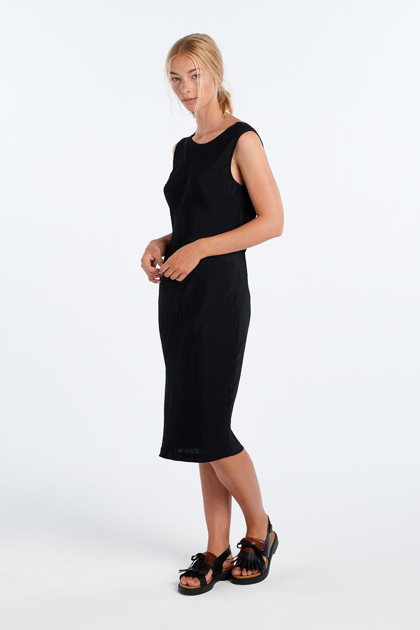 PUBLICATION DRESS | BLACK - NYNE - NZ Made Women's Clothing