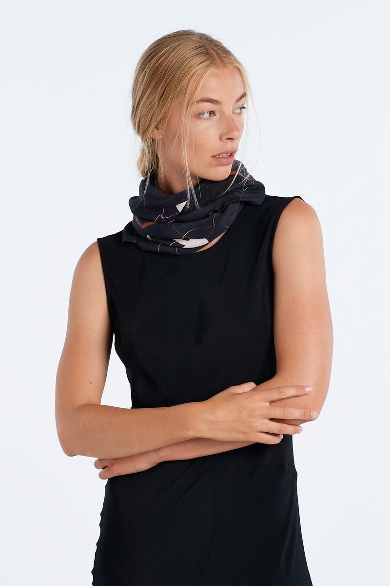 JOURNAL SCARF  | INK SILK - NYNE - NZ Made Women's Clothing