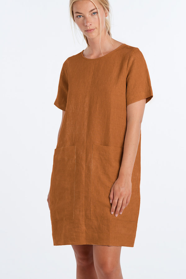 FREDDIE DRESS  | RUST - NYNE - NZ Made Women's Clothing