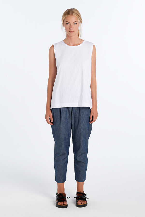 LENNOX PANT | CHAMBRAY - NYNE - NZ Made Women's Clothing