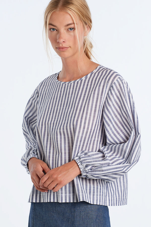 SCALE TOP | INK STRIPE - NYNE - NZ Made Women's Clothing