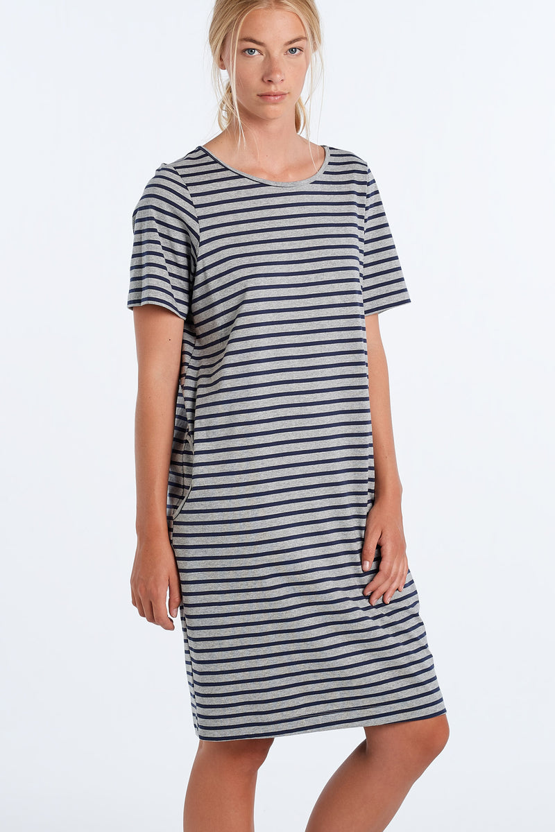 DISTANT DRESS STRIPE | INK STRIPE