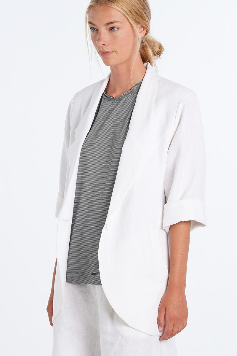 WORLD BLAZER | WHITE - NYNE - NZ Made Women's Clothing
