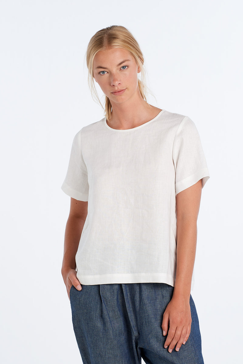 ARC TOP | IVORY - NYNE - NZ Made Women's Clothing