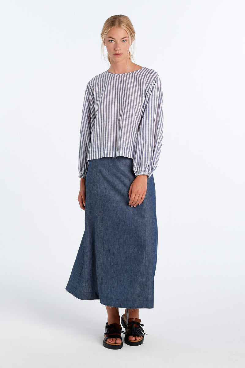 PRACTICE SKIRT | CHAMBRAY - NYNE - NZ Made Women's Clothing