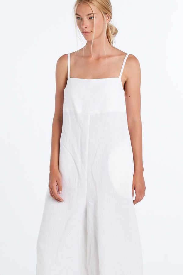 RACHEL ROMPER | WHITE - NYNE - NZ Made Women's Clothing