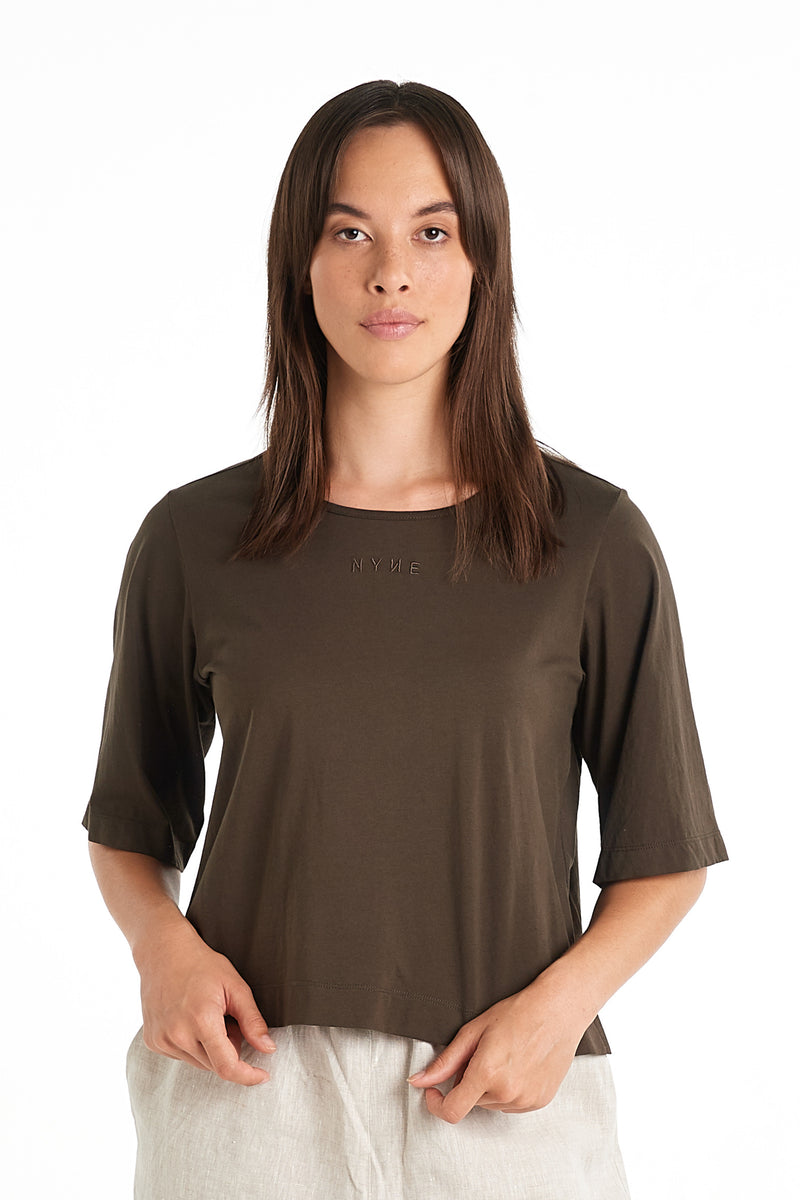 NYNE BOX T-SHIRT | KHAKI