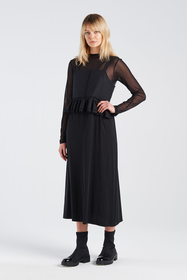 SOCIAL DRESS | BLACK TENCEL