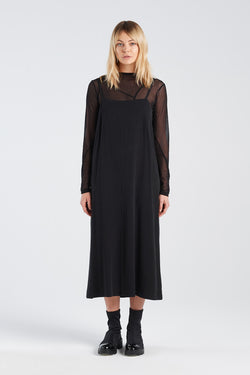 SOCIAL DRESS | BLACK TENCEL - NYNE - NZ Made Women's Clothing