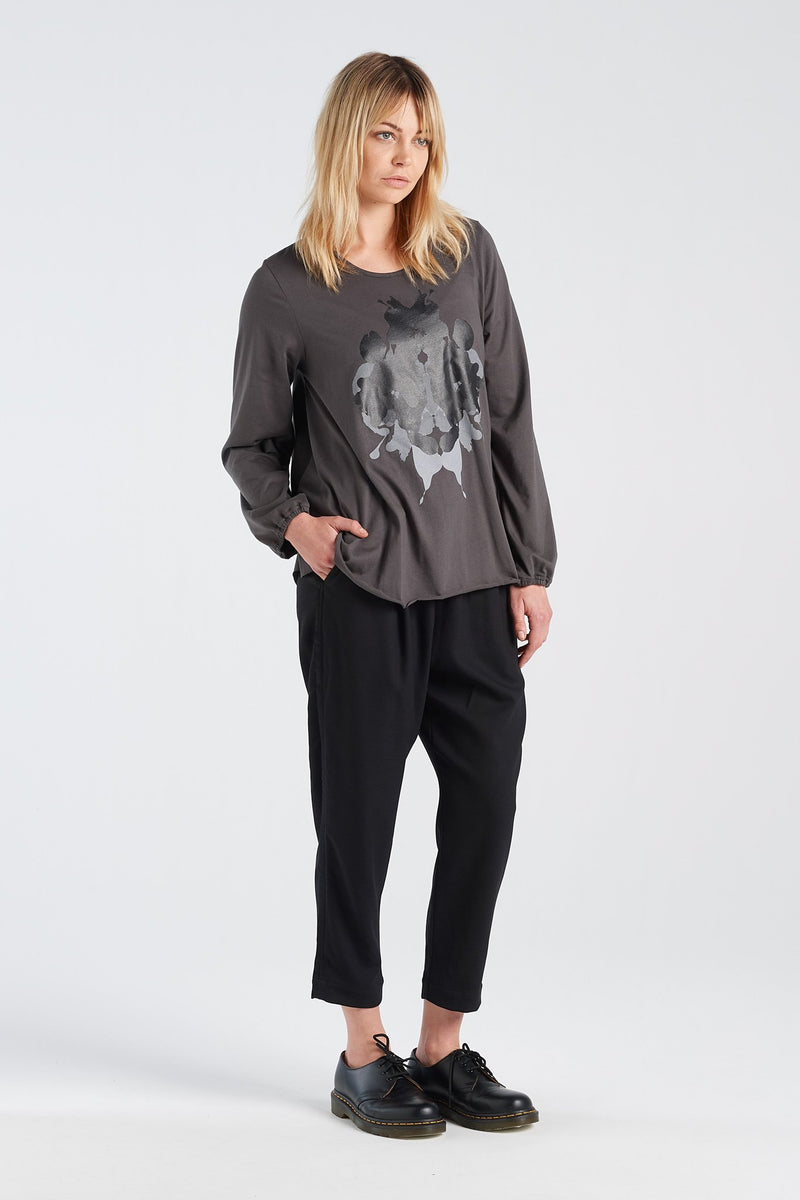 ALCHEMY TOP | CHARCOAL KNIT - NYNE - NZ Made Women's Clothing
