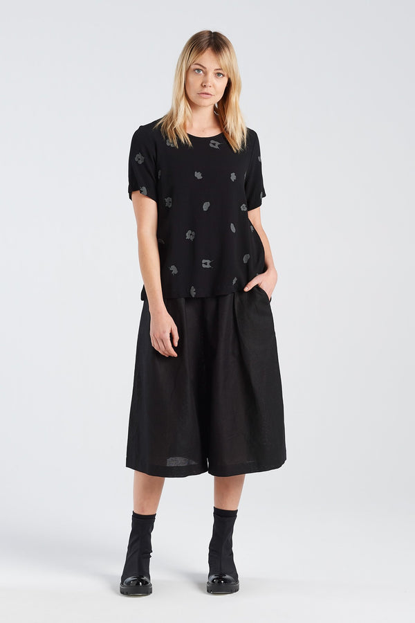 ARC TOP | BLACK SPOT - NYNE - NZ Made Women's Clothing