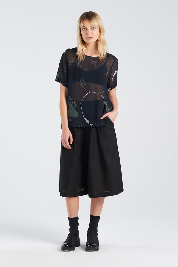 ARC TOP | RORSCH CHIFFON - NYNE - NZ Made Women's Clothing