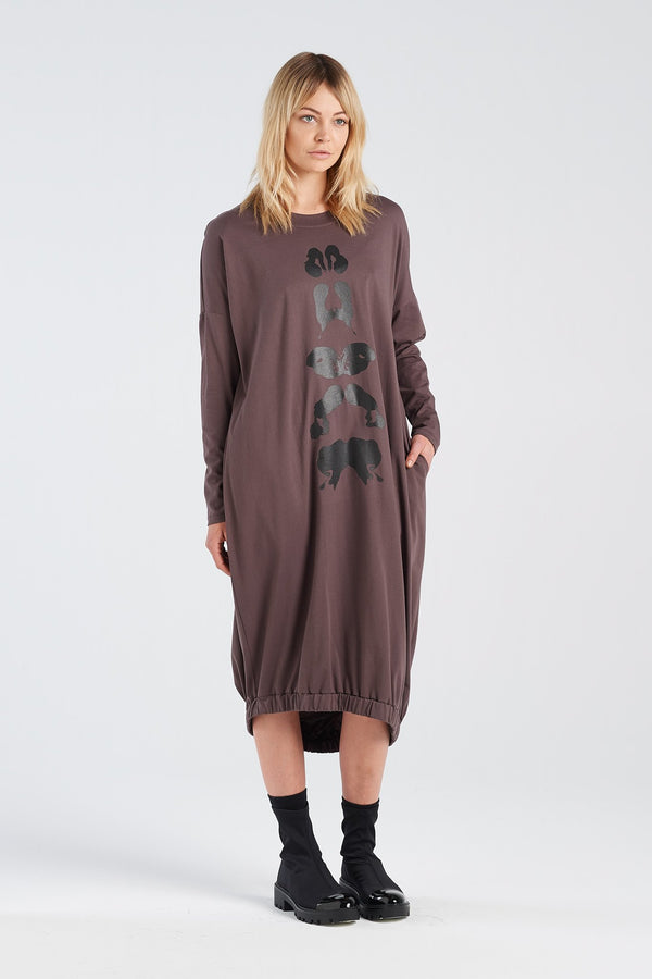 BINET DRESS KLEX | BARK KNIT