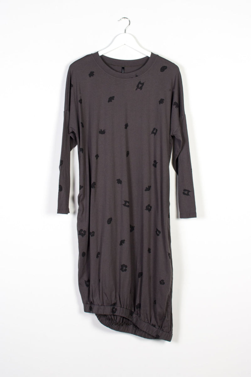BINET DRESS SPOT | CHARCOAL KNIT - NYNE - NZ Made Women's Clothing