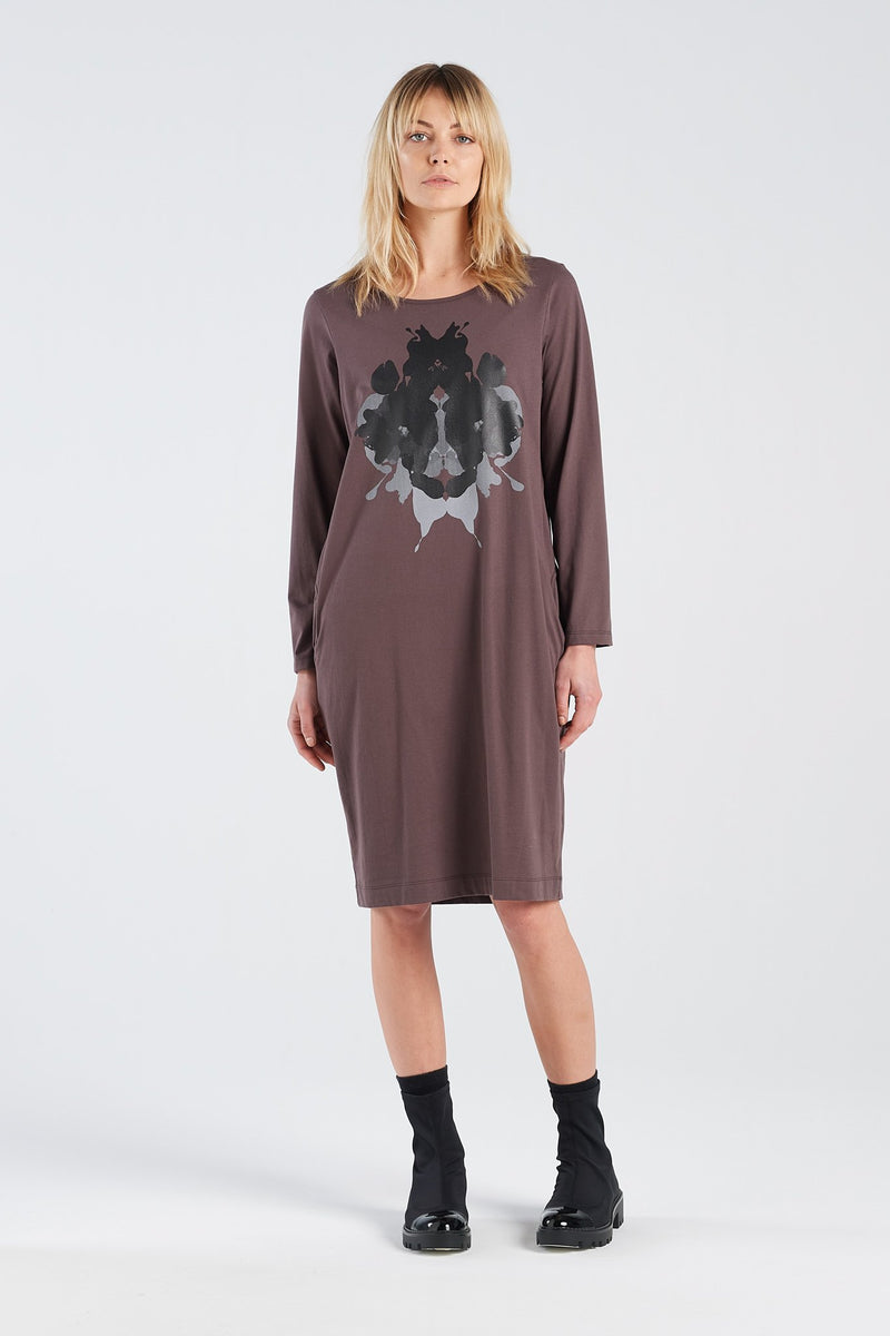 DISTANT DRESS HERMANN | BARK KNIT - NYNE - NZ Made Women's Clothing