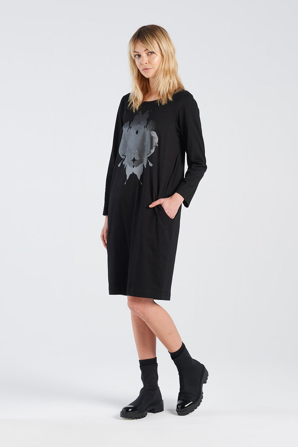 DISTANT DRESS HERMANN | BLACK KNIT