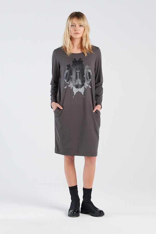 DISTANT DRESS HERMANN | CHARCOAL KNIT