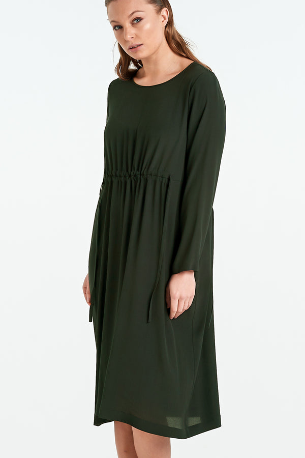 DIVIDE DRESS | KHAKI
