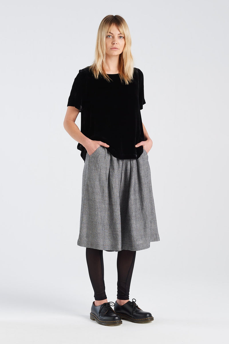 FELIX SHORT | CHARCOAL GAUZE - NYNE - NZ Made Women's Clothing