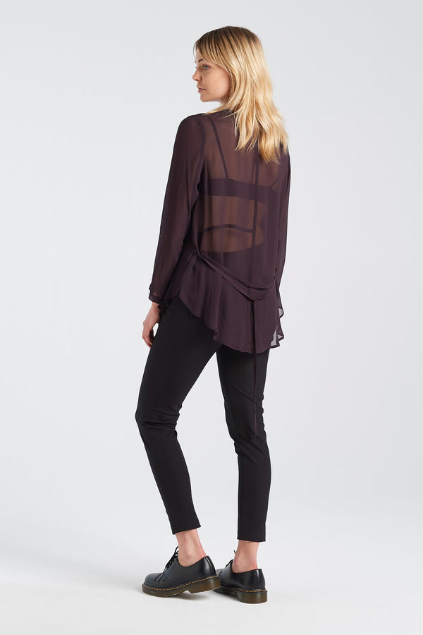 FREUDIAN LONGSLEEVE | BLACKBERRY - NYNE - NZ Made Women's Clothing