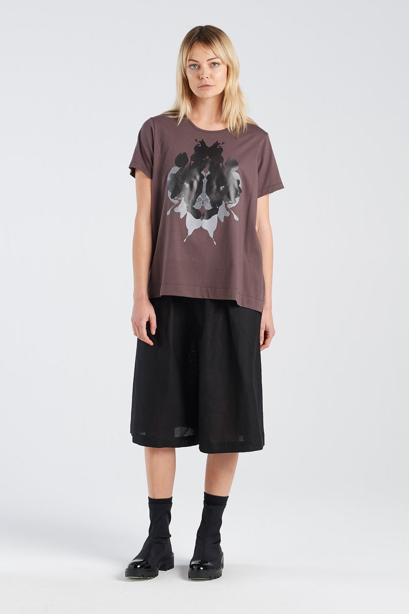 HERMANN T-SHIRT | BARK KNIT - NYNE - NZ Made Women's Clothing