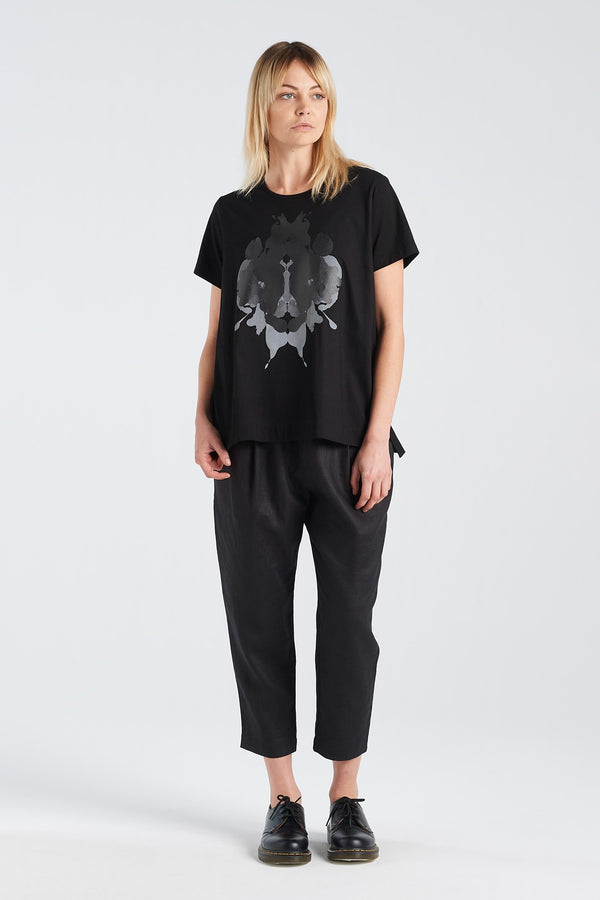 HERMANN T-SHIRT | BLACK KNIT - NYNE - NZ Made Women's Clothing