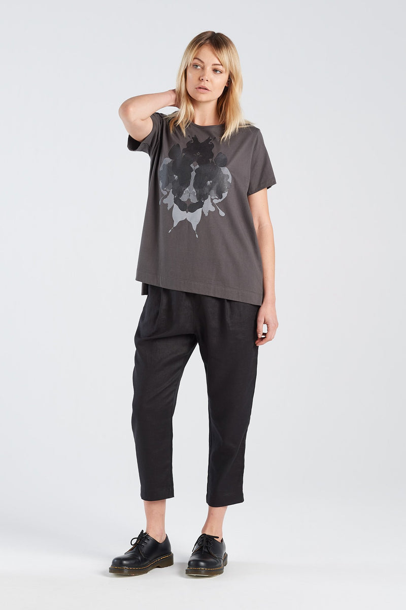HERMANN T-SHIRT | CHARCOAL KNIT - NYNE - NZ Made Women's Clothing