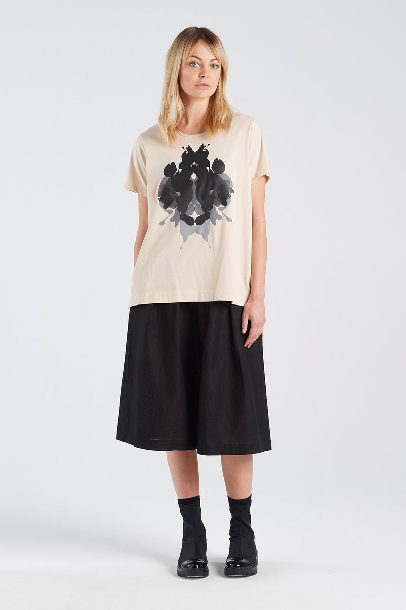 HERMANN T-SHIRT | SAND KNIT - NYNE - NZ Made Women's Clothing