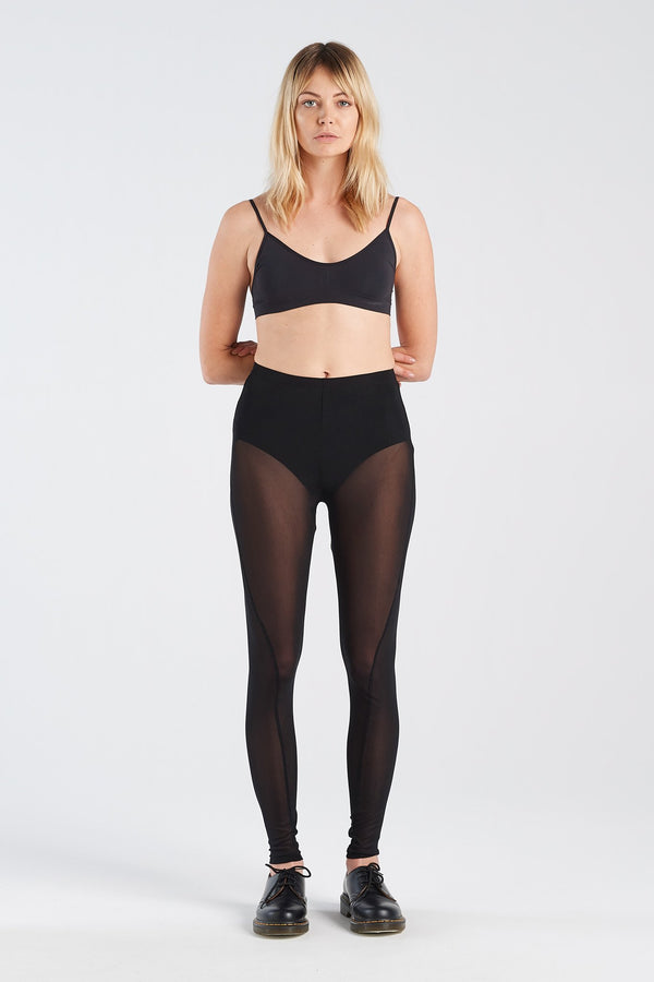IMAGE LEGGING | BLACK MESH - NYNE - NZ Made Women's Clothing
