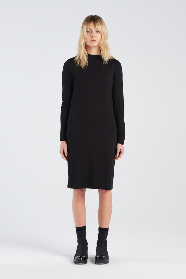 INSIGHT DRESS  | BLACK MERINO - NYNE - NZ Made Women's Clothing