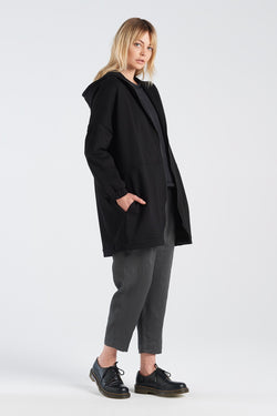 LENNOX PANT | CHARCOAL LINEN - NYNE - NZ Made Women's Clothing
