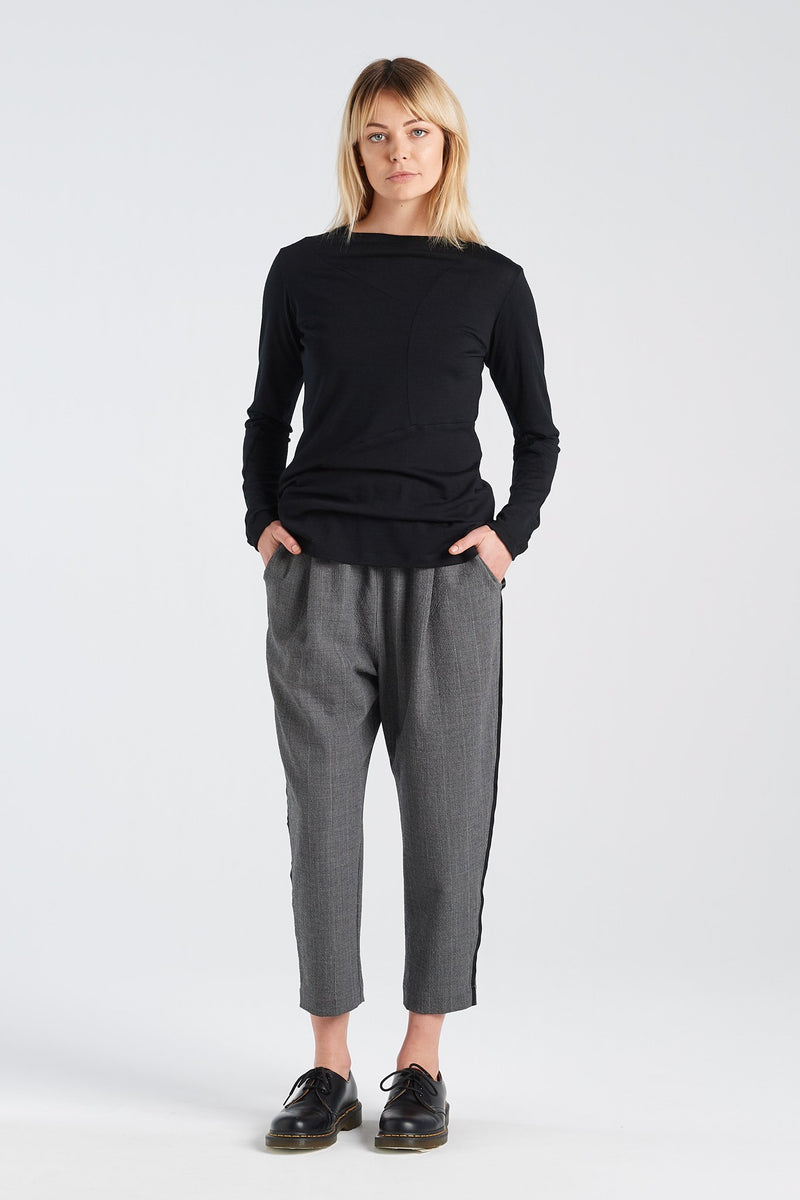 LENNOX TUXEDO PANT | GREY - NYNE - NZ Made Women's Clothing