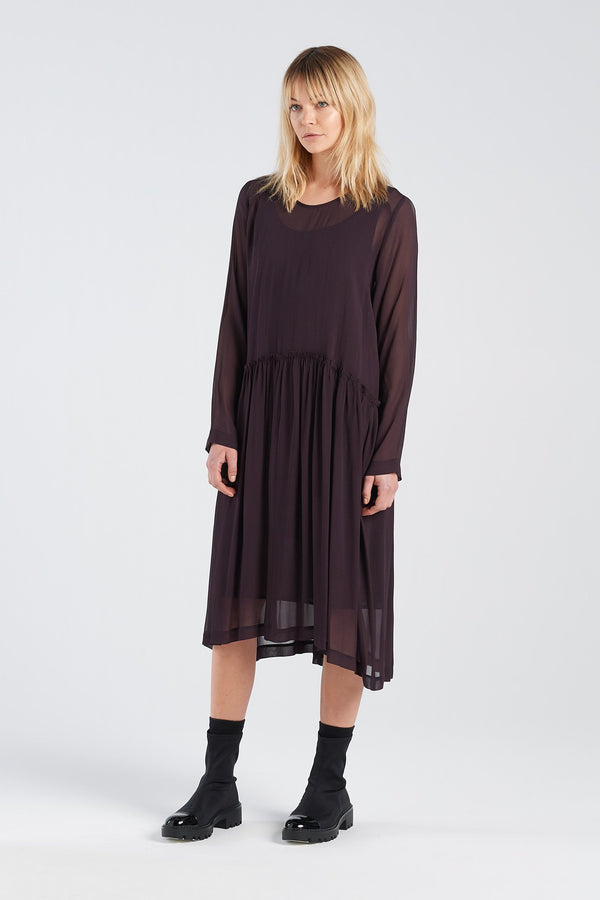 MANIFEST DRESS | BLACKBERRY - NYNE - NZ Made Women's Clothing