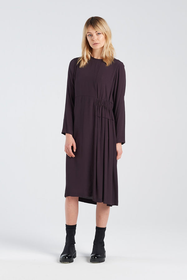 METAPHOR DRESS | BLACKBERRY - NYNE - NZ Made Women's Clothing