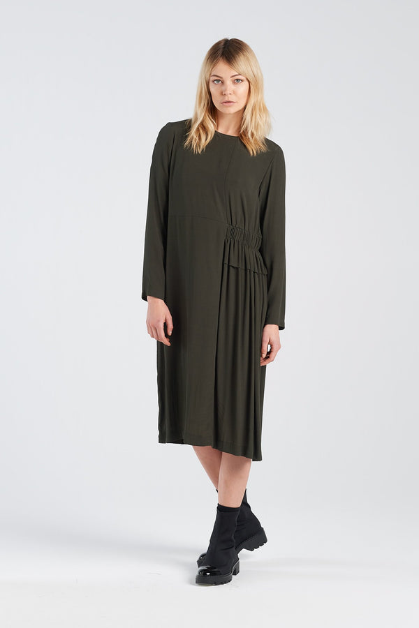 METAPHOR DRESS | MOSS - NYNE - NZ Made Women's Clothing